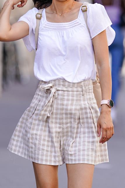 checkered vichy skirt
