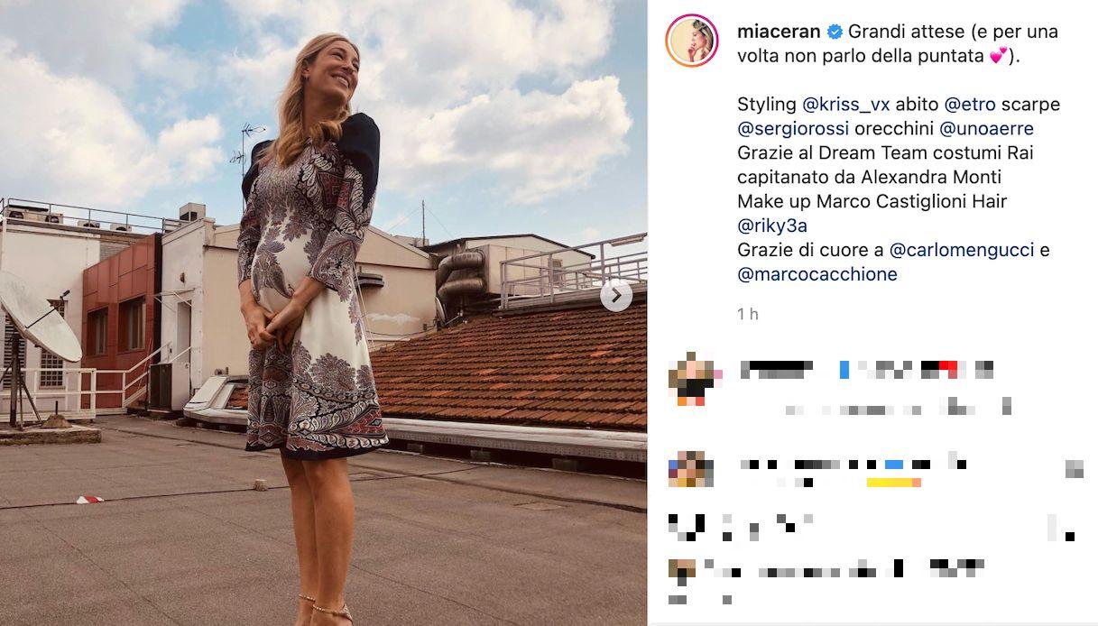 Mia Ceran pregnant, the announcement on live tv