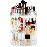Makeup Organizer, 360 Degree Rotating Cosmetic Display Rack, Adjustable Vanity Organizer Bathroom Shelf Countertop Cosmetic Organizer, Clear, Crystal Clear Cosmetic Container