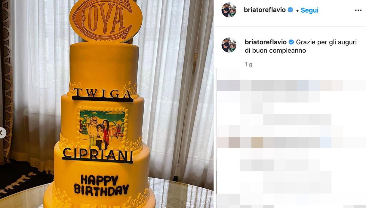 Flavio Briatore's cake