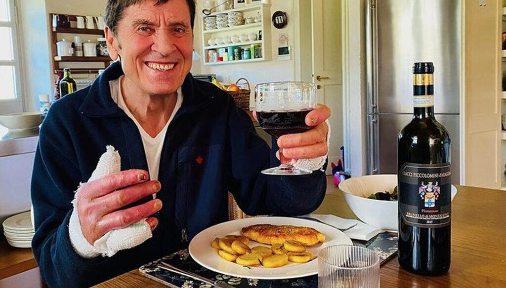 "Gianni Morandi toasts to healing: ""Finally a glass of wine"""