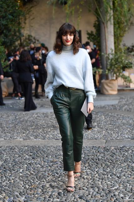 greta ferro leather pants