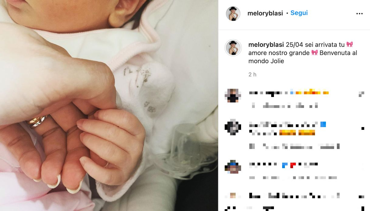 Melory Blasi became a mother