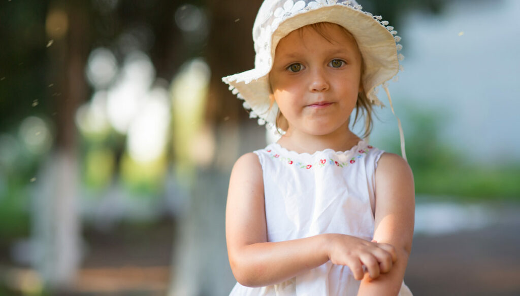 Processionary women, what to do in case of contact with children