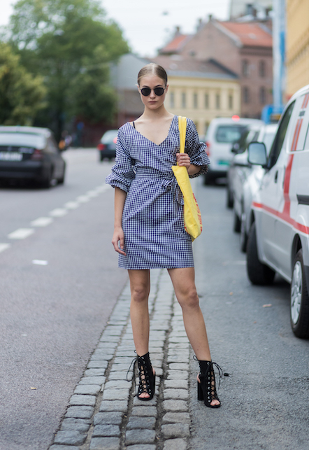 checkered vichy dress