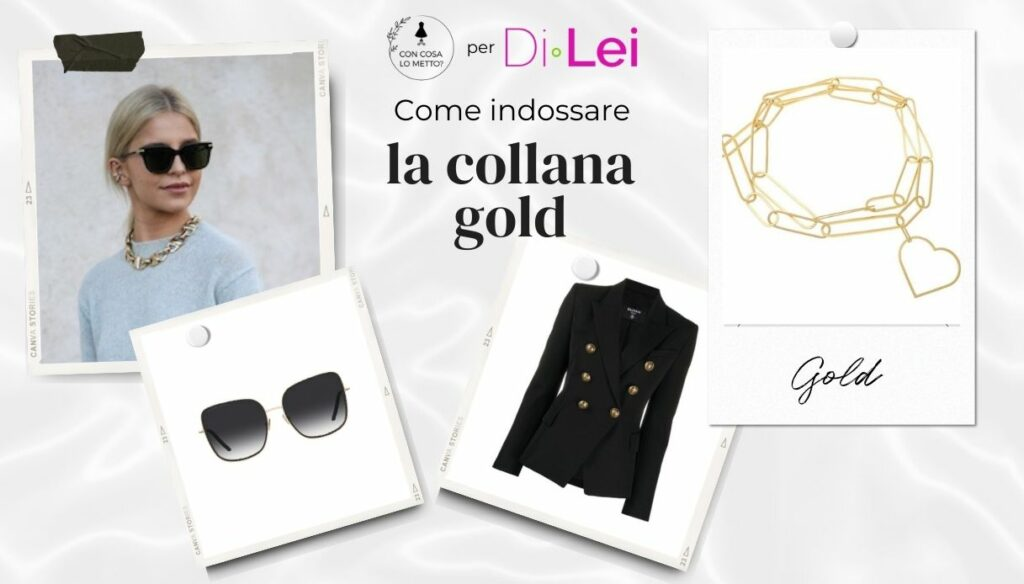 Golden necklace: how to wear it with style