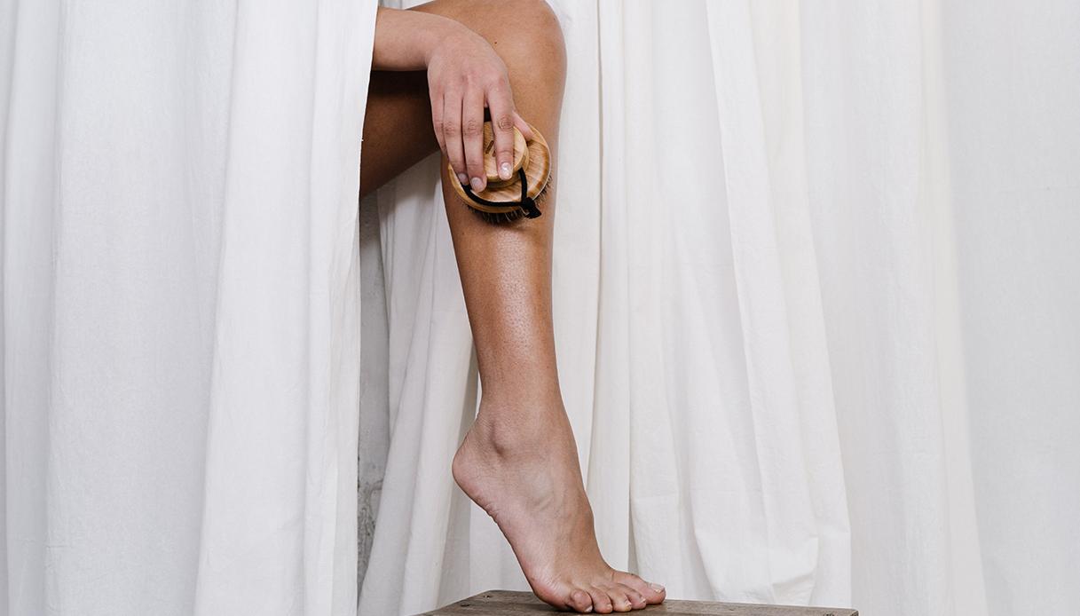 DIY leg scrub bicarbonate