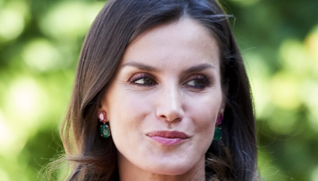 Letizia of Spain, fuchsia dress like Kate Middleton. But the measurements are wrong