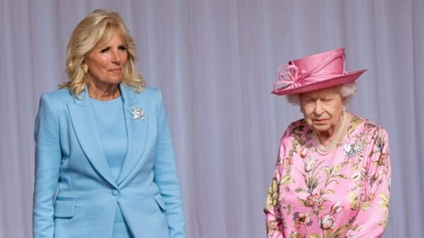 Jill Biden and tea with the Queen: the lovely First Lady in blue