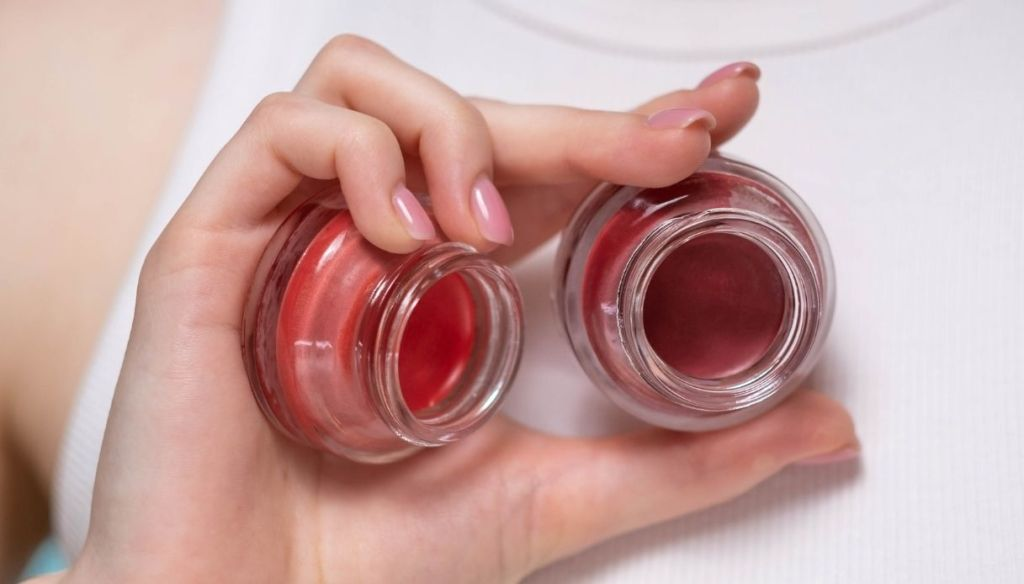 pink cream blush pink manicure