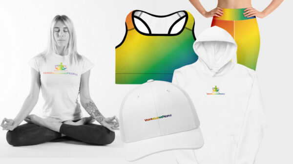 The capsule includes yoga clothing