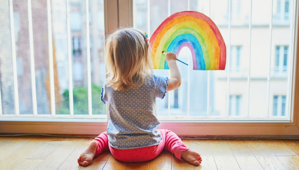 Rainbow children, smile after tears