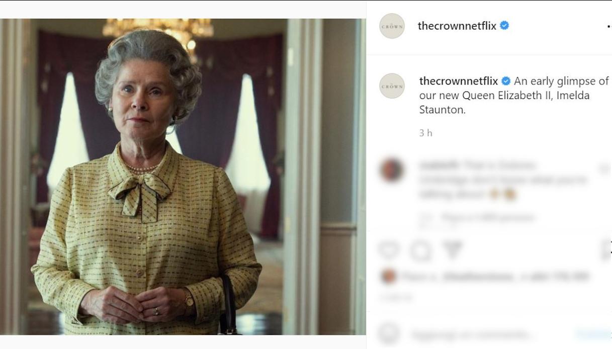 Imelda Staunton in The Crown on Instagram