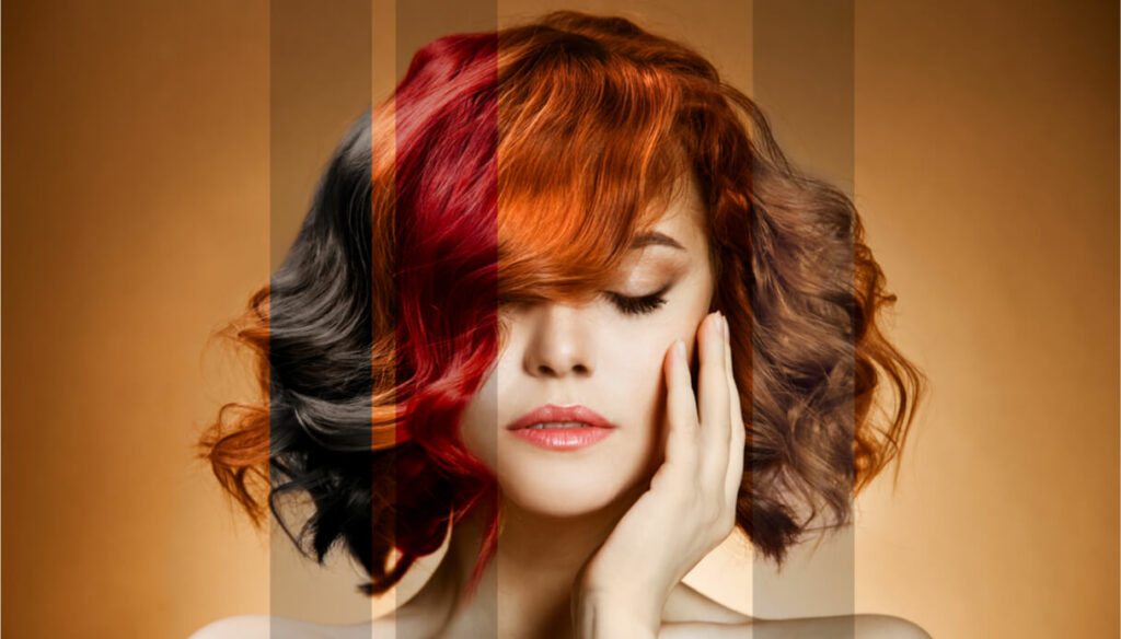 How to choose the hair color based on the color scheme