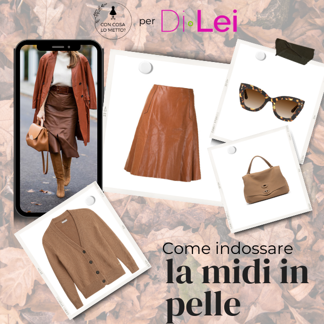 How to wear the midi leather skirt: here are 4 ideas