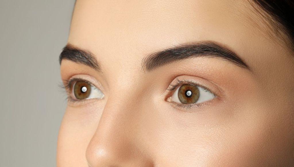 perfect smooth face skin uniforata woman hazel eyes