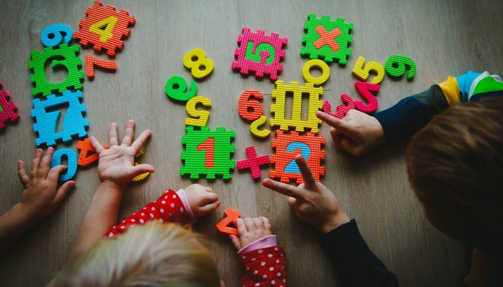 Mathematics in English.  The importance of exercising from an early age.